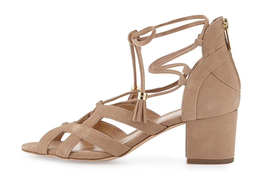 MICHAEL Michael Kors Mirabel Suede Lace-Up Sandal
