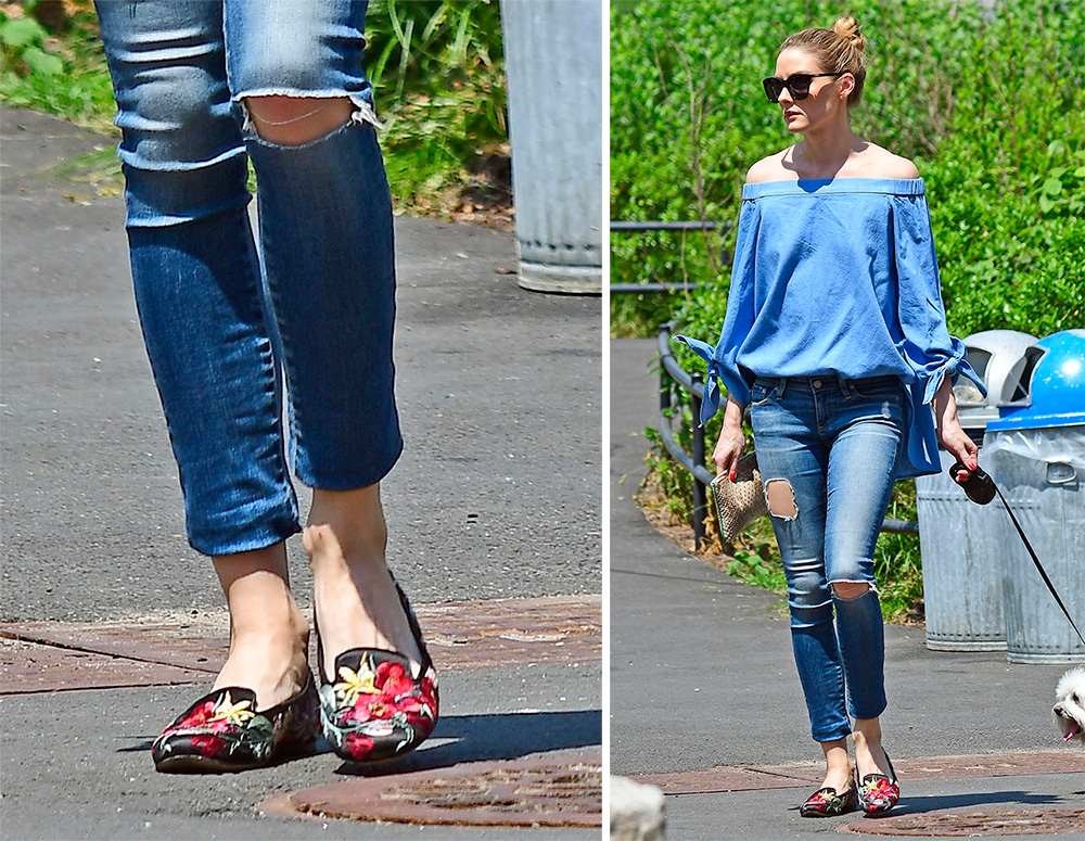 Olivia-Palermo-Alexander-McQueen-Embroidered-Loafers