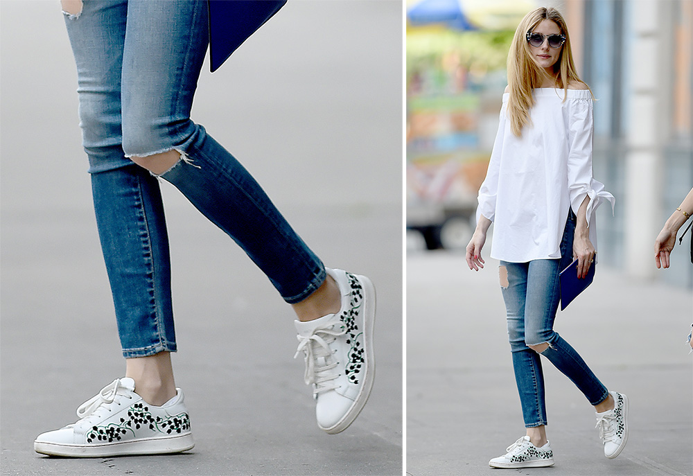 Olivia-Palermo-Moncler-Gamme-Rouge-Muguet-Sneakers