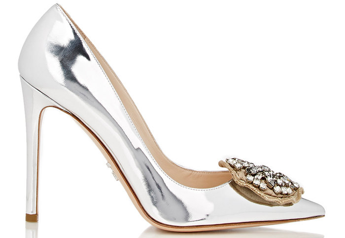 Prada Crystal Medallion Pumps