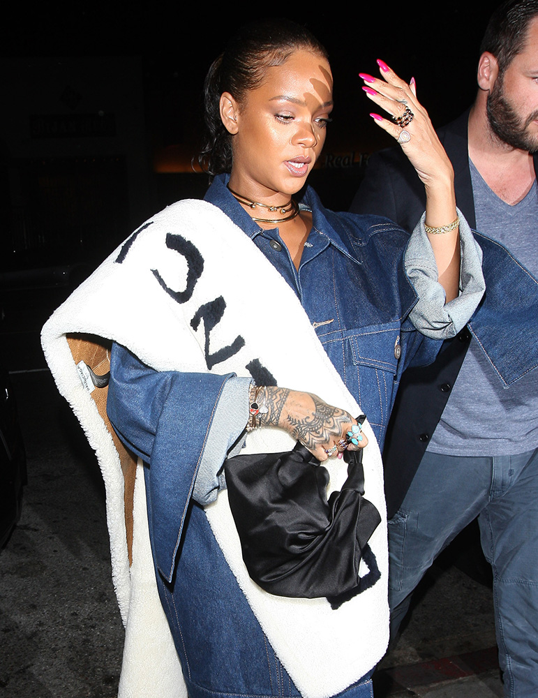 Rihanna-The-Row-Ascot-Knot-Nylon-Hobo