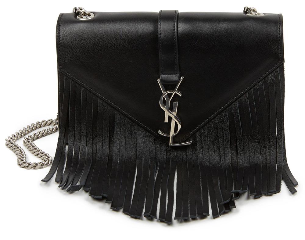 Saint-Laurent-Monogramme-Fringe-Shoulder-Bag