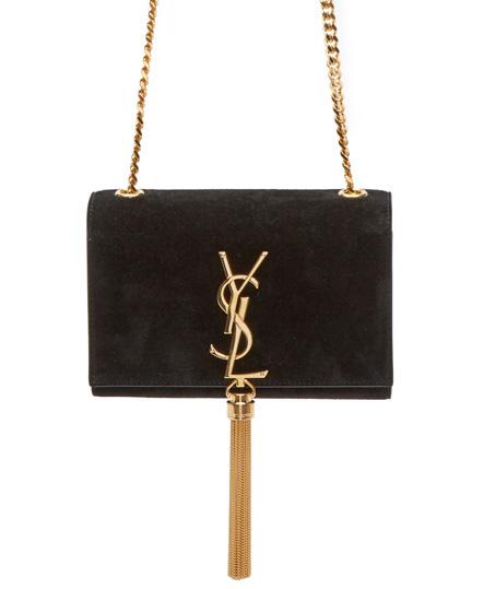 Saint-Laurent-Monogramme-Suede-Mini-Bag