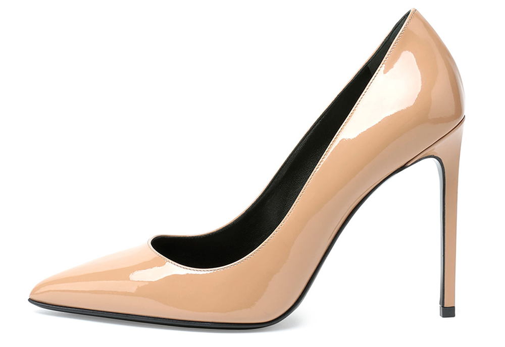 Saint Laurent  Paris Patent Leather Pump