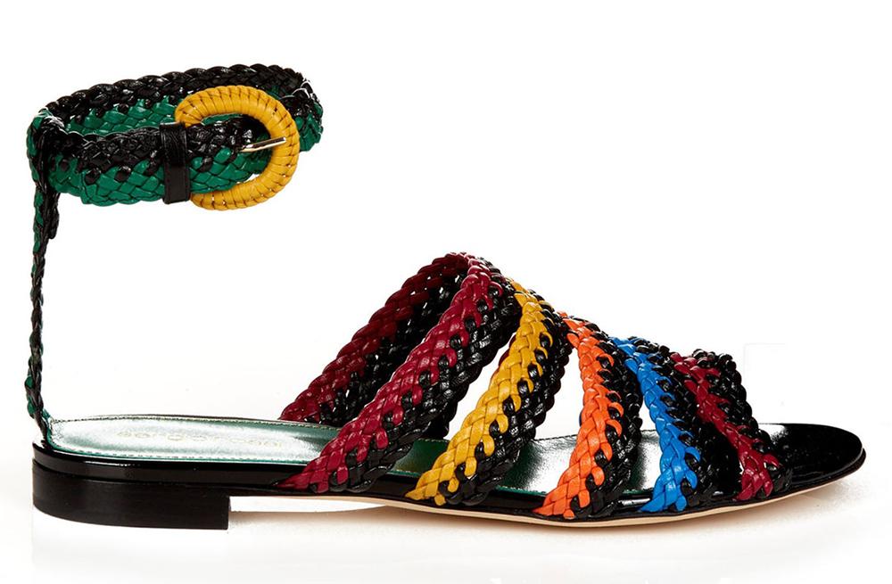 Sergio Rossi Boavista Woven Flat Sandals