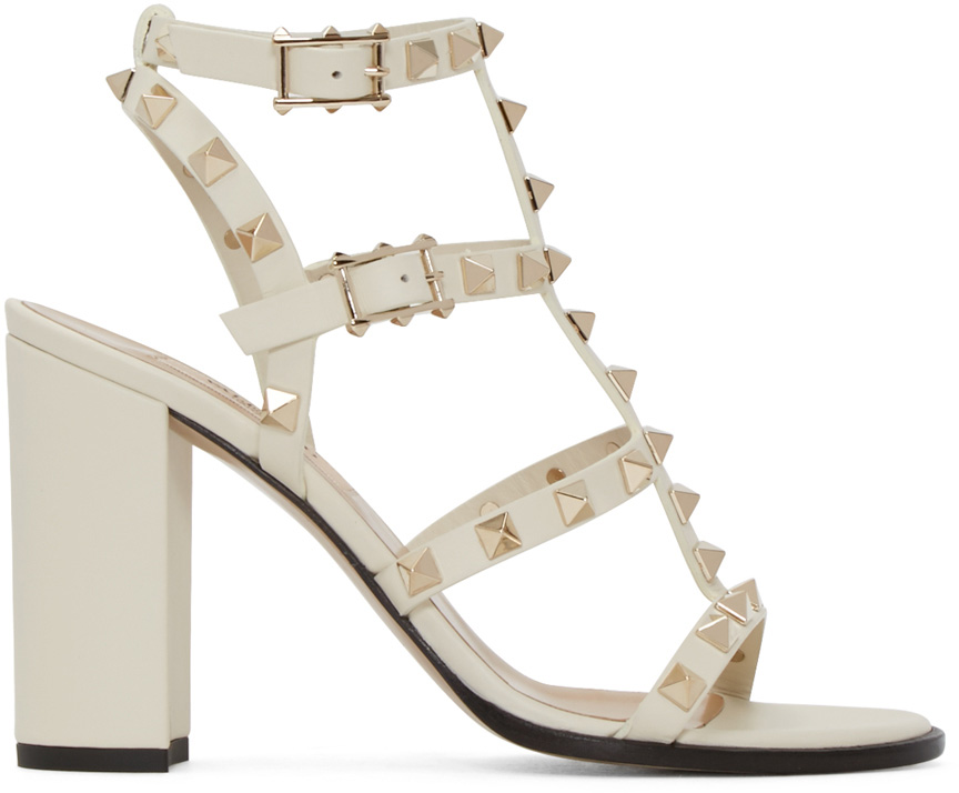 Valentino Ivory Multi-Strap Sandals