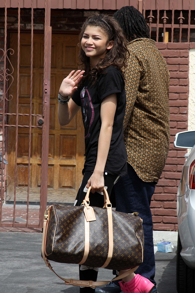 Zendaya-Louis-Vuitton-Keepall-Bag
