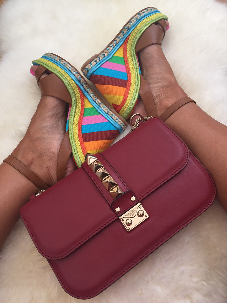tPF Member: Designerdiva40 Bag: Valentino Lock Shoulder Bag Shoes: Valentino Chevron Wedge Sandals Shop: Valentino Nah $2,345 via Nordstrom  Shop similar Valentino sandals via Neiman Marcus