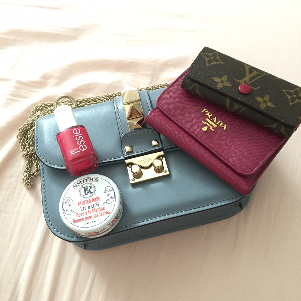 tPF Member: Selenahsu Bag: Valentino Lock Shoulder Bag Accessories: Prada Saffiano Card Case Louis Vuitton Rosalie Coin Purse  Shop: Valentino Bag $2,345 via Nordstrom Prada Card Case $345 via Neiman Marcus  Louis Vuitton Coin Purse$370 via Louis Vuitton
