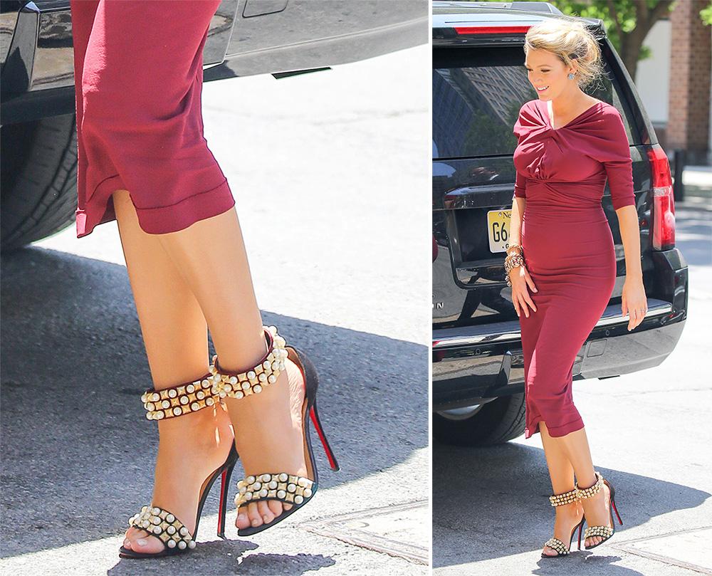 Blake-Lively-Christian-Louboutin-Tudor-Sandals