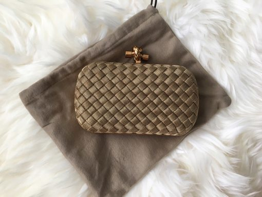 Bottega-Veneta-Metal-Mesh-Knot-Clutch