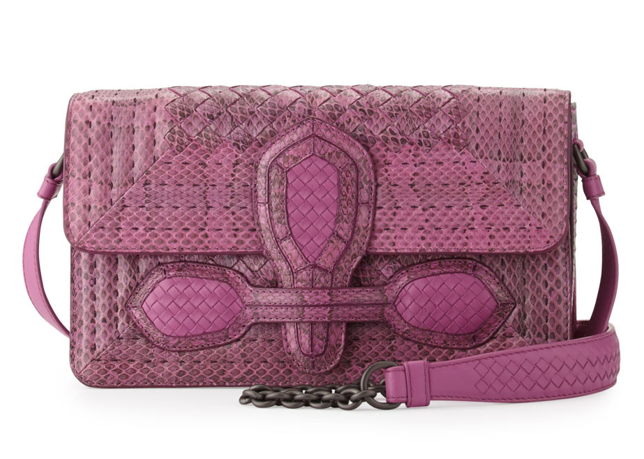 Bottega-Veneta-Watersnake-Flap-Bag