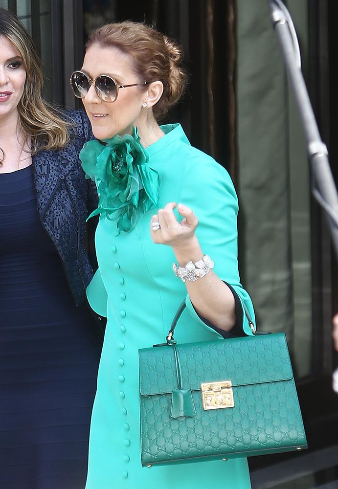 Celine-Dion-Gucci-Padlock-Top-Handle-Bag