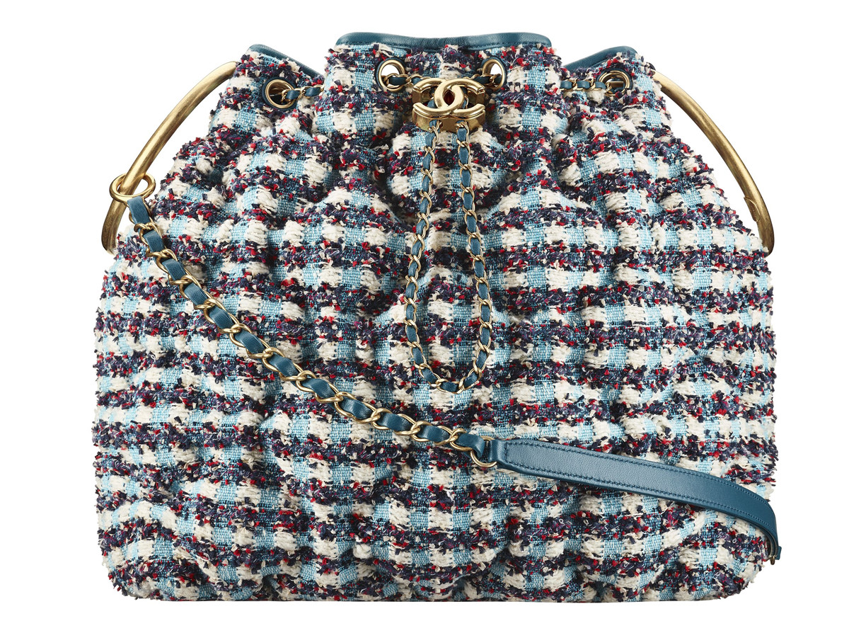Chanel Cuba Multicoloured tweed drawstring bag