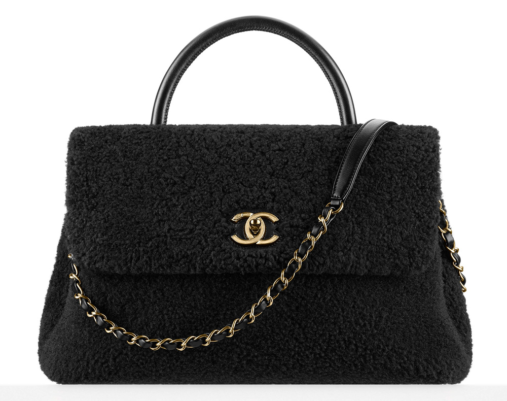 Chanel-Shearling-Top-Handle-Flap-Bag