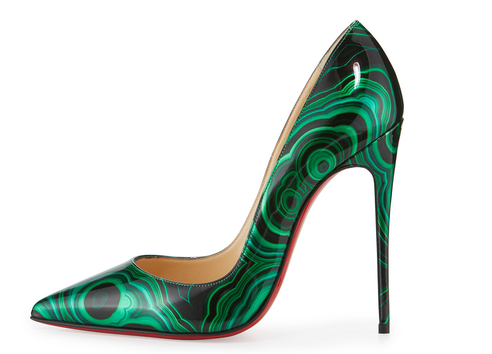 Christian Louboutin So Kate Marbled Red Sole Pump