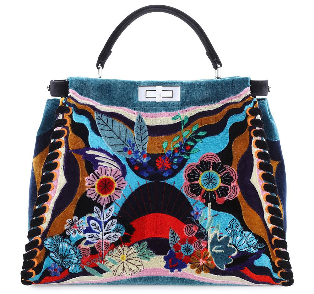 Fendi-Embroidered-Velvet-Peekaboo-Bag