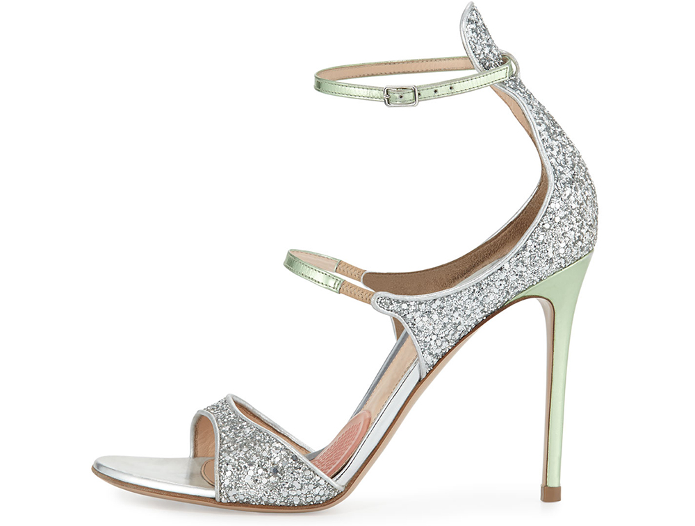 Gianvito Rossi for Mary Katrantzou Juliet Strappy Glittered Sandal