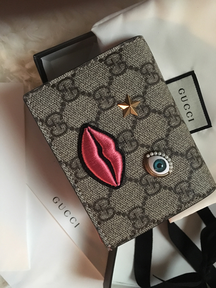 tPF Member: HandbagDiva354 Card Case: Gucci Card Case with Embroidered Face Shop: $395 via Gucci