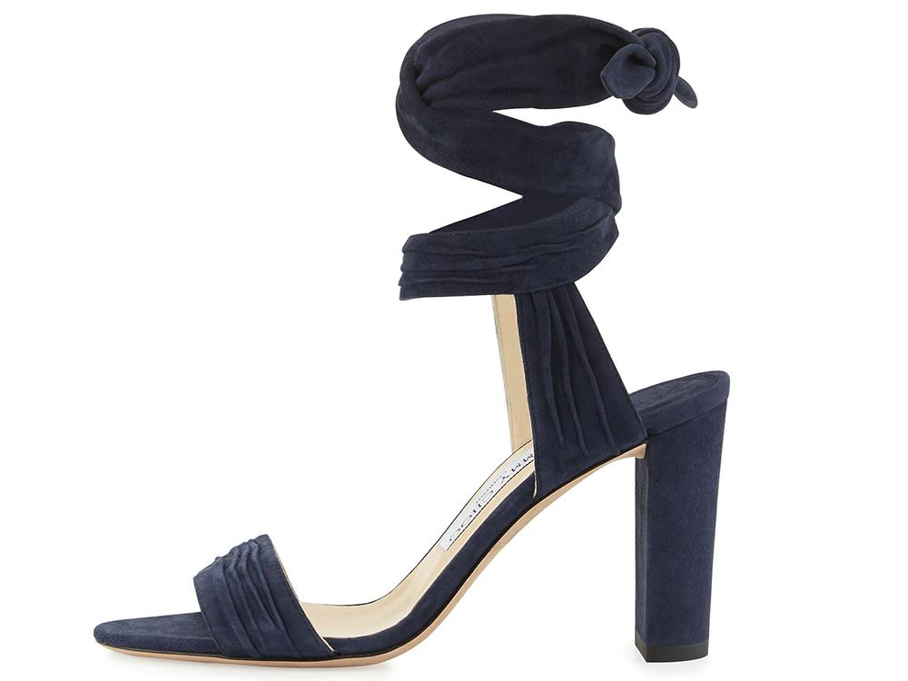 Jimmy Choo Kora Suede Ankle-Wrap 85mm Sandal