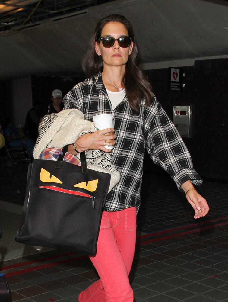Katie-Holmes-Fendi-Monster-Shopping-Tote