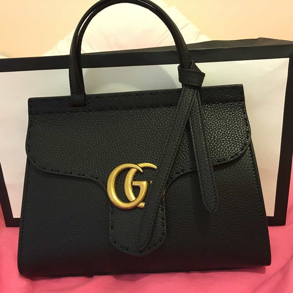 tPF Member: Logic  Bag: Gucci GG Marmont Leather Top Handle Mini Bag Shop: $1,890 via Gucci