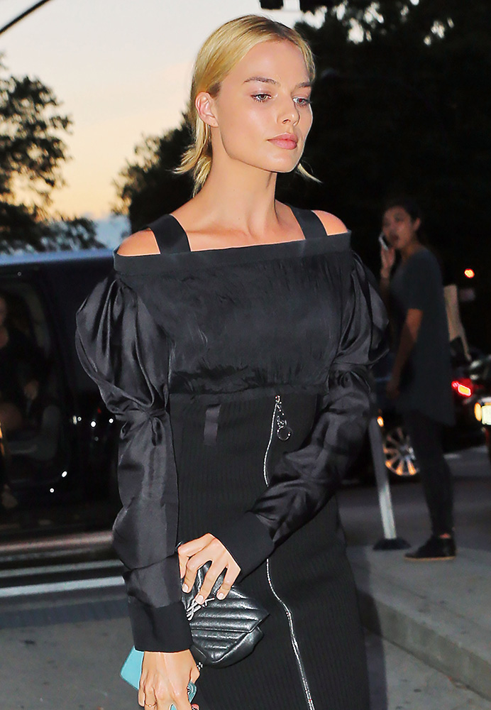 Margot-Robbie-Saint-Laurent-Monogram-Matelasse-Baby-Bag