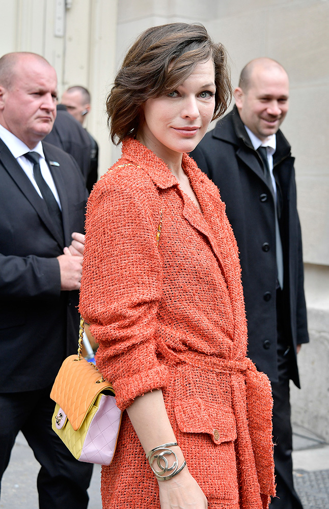Milla-Jovovich-Chanel-Classic-Flap-Bag