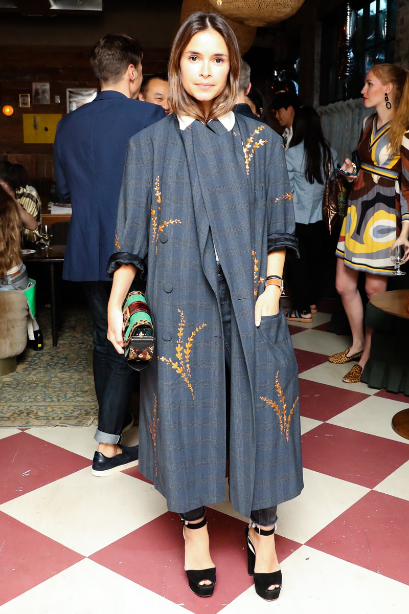 Miroslava Duma Burberry Patchwork Bag