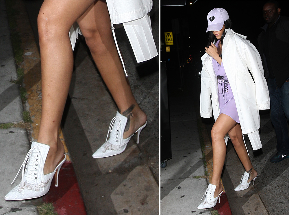 Rihanna-Givenchy-Leather-and-Lace-Mules