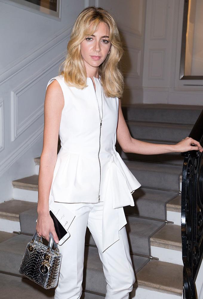 21df9f471756 Sabine-Getty-Dior-Lady-Dior-Python-Mini-Bag - PurseBlog