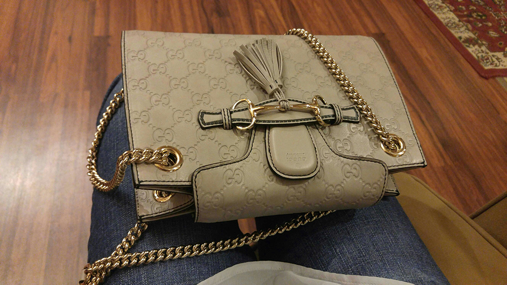 tPF Member: Tweetie1288 Bag: Gucci Emily Guccissima Chain Shoulder Bag Shop: Similar styles via Gucci