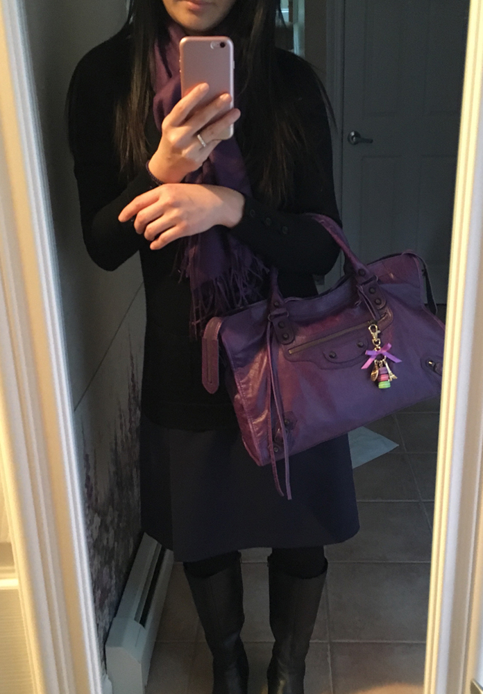 tPF Member: Mtstmichel Bag: Balenciaga Ultraviolet City Bag  Shop: Similar styles via Balenciaga