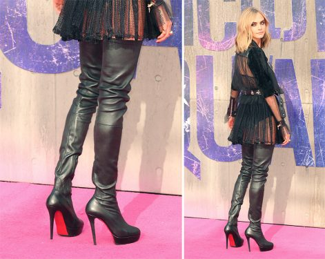 Cara Delevingne Has Worn Some Extreme Shoe Looks on the Suicide Squad Promo Tour