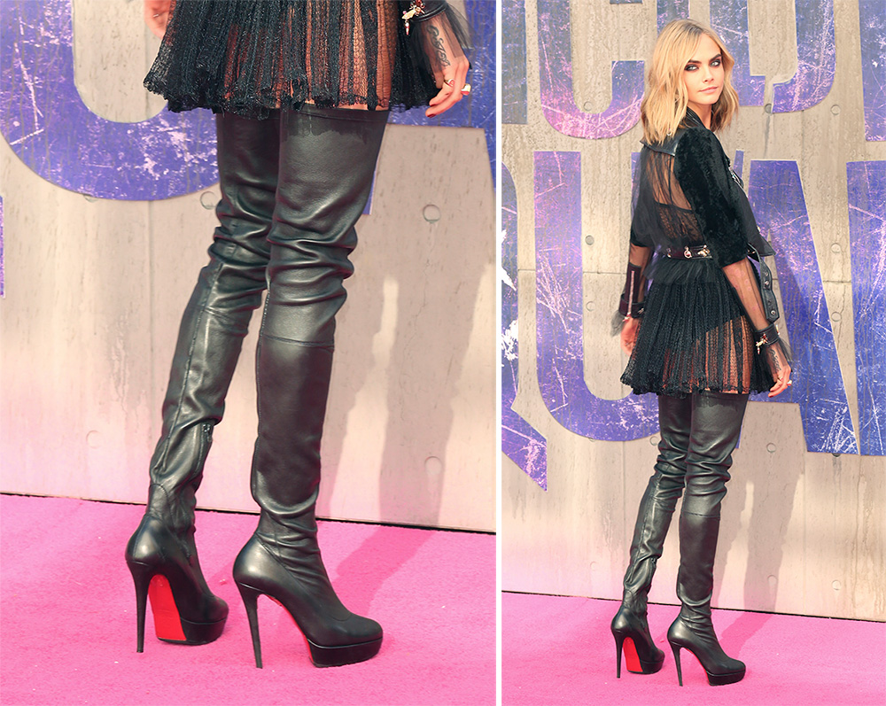 new concept 654cd af9c9 Cara Delevingne Has Worn Some Extreme Shoe Looks on the ...