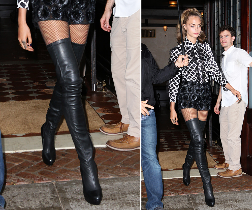 3e8e6d62270 Cara Delevingne Has Worn Some Extreme Shoe Looks on the Suicide ...