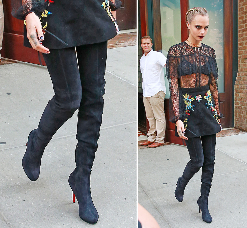 a458bd145727 Cara Delevingne Has Worn Some Extreme Shoe Looks on the Suicide ...