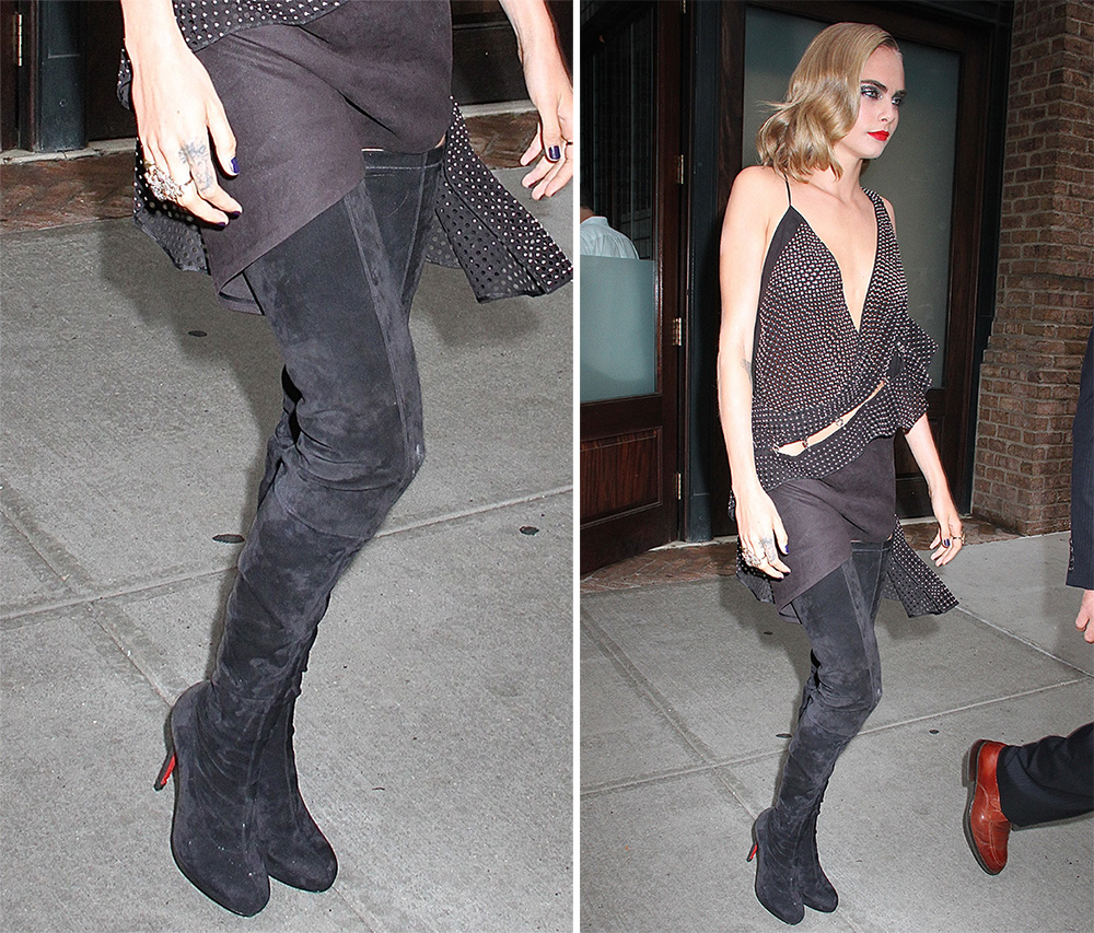 467df5dde9c1 Cara Delevingne Has Worn Some Extreme Shoe Looks on the Suicide ...