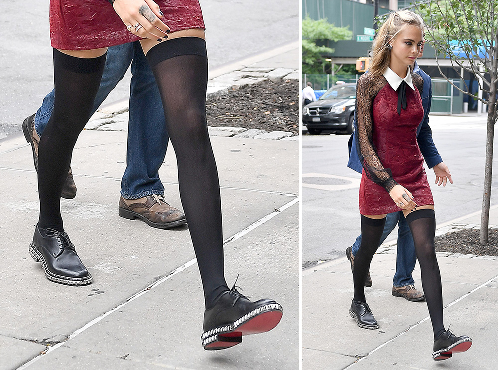 Cara-Delevingne-Christian-Louboutin-Stud-Trim-Oxfords