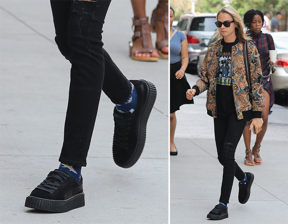 new products f79eb f2483 Cara-Delevingne-FENTY-x-Puma-Creepers - PurseBlog