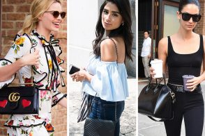Celebs Hit the Press Circuit with Bags from Gucci, Versace, Chanel and More