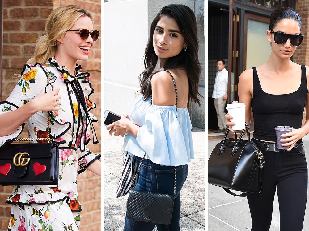 b31a71e52f3b Celebs Hit the Press Circuit with Bags from Gucci