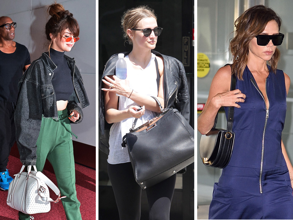 10f866080654 Celebs Opt for Bold Detailing with Bags from Versace