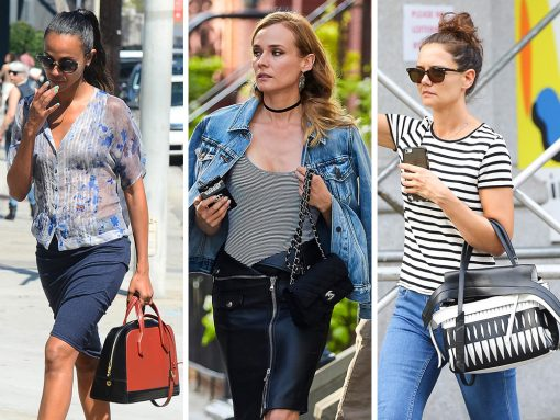 Celebs Smile and Sulk with Fab New Bags from Mansur Gavriel, Tod's and Céline