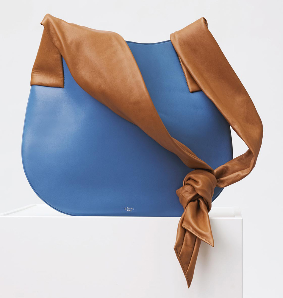 Celine-Large-Ribbon-Shoulder-Bag-Blue-2650