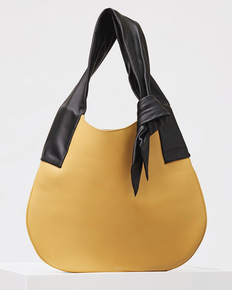 Celine-Large-Ribbon-Shoulder-Bag-Yellow-2650