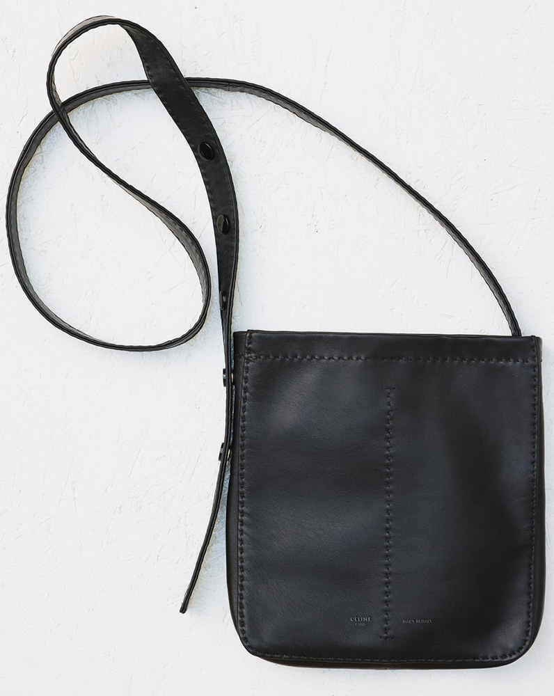 Celine-Pouch-Croissant-Shoulder-Bag-Black-1550