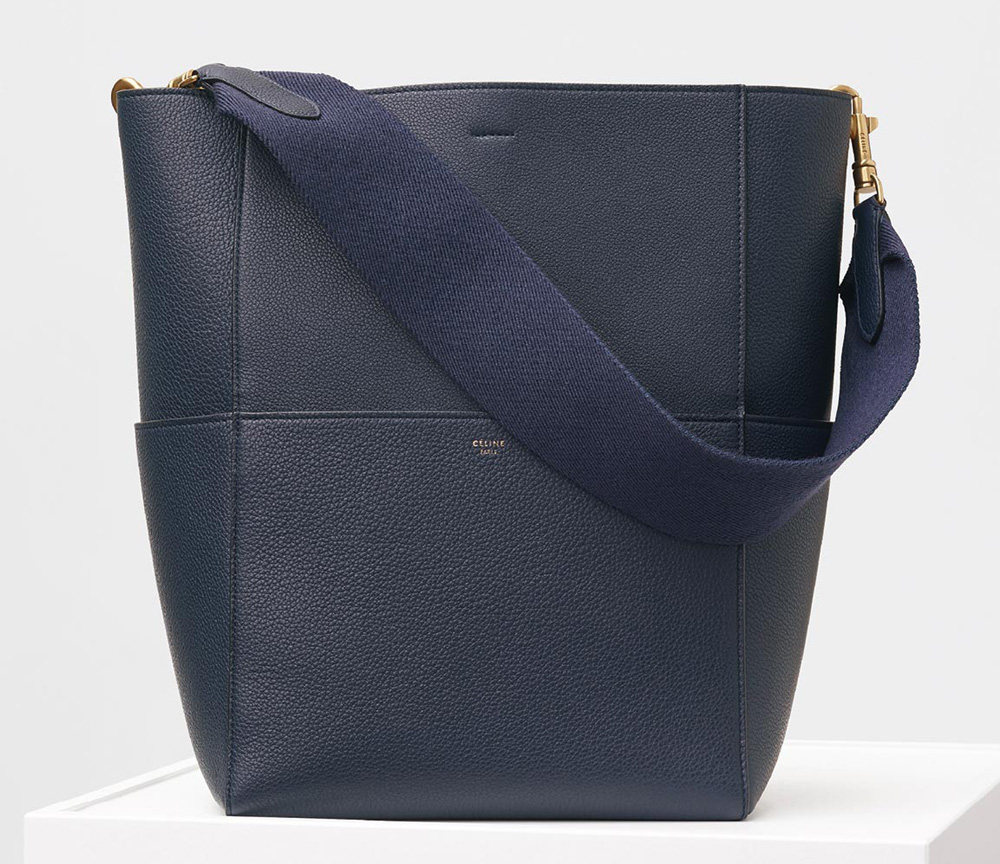 Celine-Sangle-Shoulder-Bag-Navy-2400
