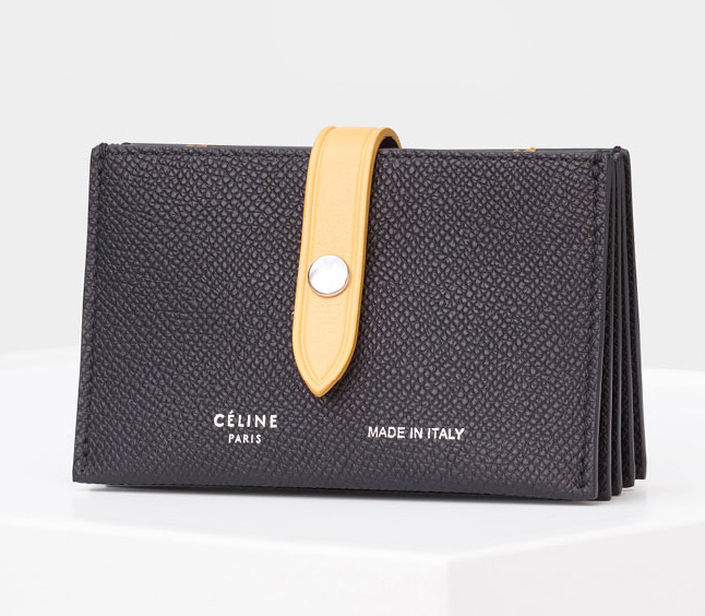 Celine-Strap-Accordeon-Card-Holdern-Black-510