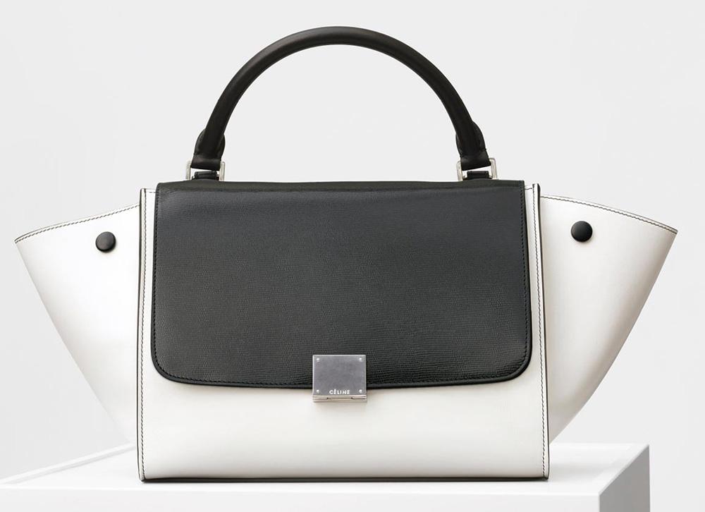 Celine-Trapeze-Bag-Black-White-2700